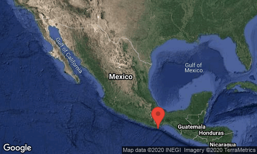 SISMO Magnitud 7.5 Loc 23 km al SUR de CRUCECITA, OAX 23/06/20 10:29:02 Lat 15.57 Lon -96.09 Pf 5 km
